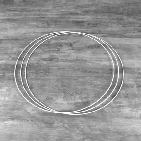 Set of 3 white metal circles Diameter 45 cm for lampshade, epoxy rings for Dreamcatcher