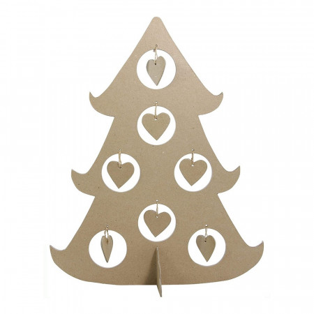 Sapin de noël 7 Bulles en carton, h. 45 cm, support à customiser diy