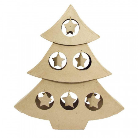 Christmas tree, 6 cardboard bubbles, h. 48 cm, thick. 10 cm, to customize diy