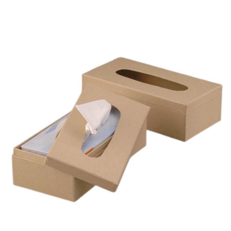 Box in brown cardboard, for cosmetic paper tissues , 26x13x8 cm, to customize