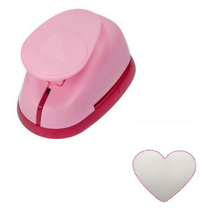 XL Heart Shaped Perforator, 4.9 x 4.2 cm, for scrapbooking