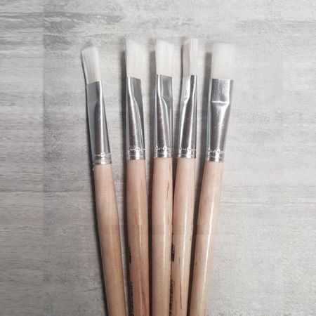 Set of 5 Flat paintbrushes in synthetic hair, width 24 mm, Size 24