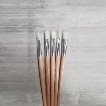 Set of 5 Flat paintbrushes in synthetic hair, width 16 mm, Size 16