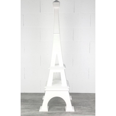 Eiffel tower in expanded polystyrene, 130 cm high, Base 40x40cm, in 4 parts, for reception display