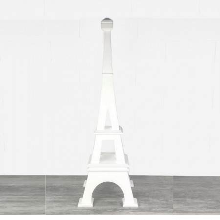 Little Eiffel tower in expanded polystyrene, 80 cm high, Base 25x25cm, in 4 parts, for reception display