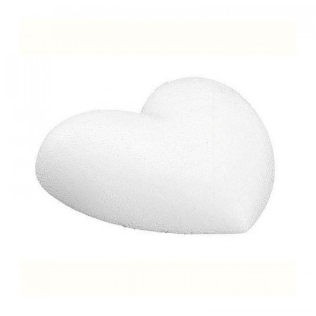 Lot 10 small Demi Bulging Hearts in Styrofoam, diam. 5 cm, Thickness 1.5 cm, Flat bottom, upper density