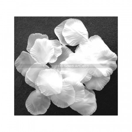 Bag of 300 White Rose Petals in fabric, to sprinkle, 4.5x5cm