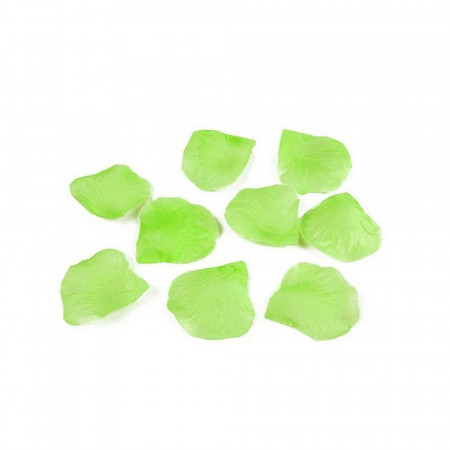 Big Lot of 300 Rose petals color green anise, 4.5x5 cm, in fabric, to sprinkle