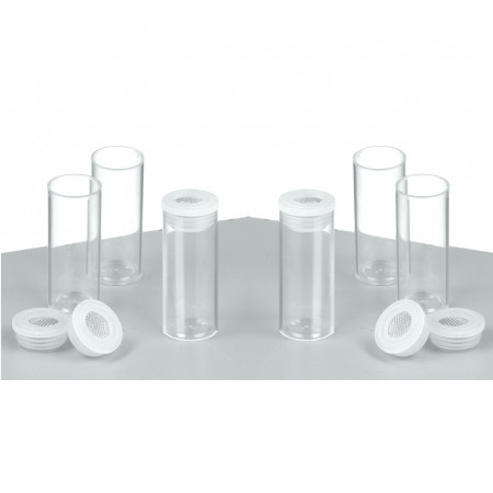 Set of 10 Empty tubes with sieve nozzle, ø 20 mm high 50 mm, for 10 ml