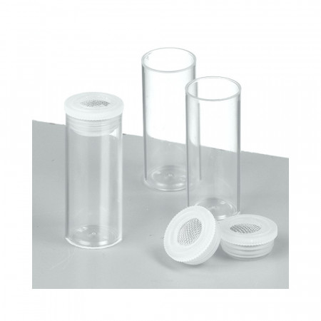 Set of 5 Empty tubes with sieve nozzle, ø 20 mm high 50 mm, for 10 ml