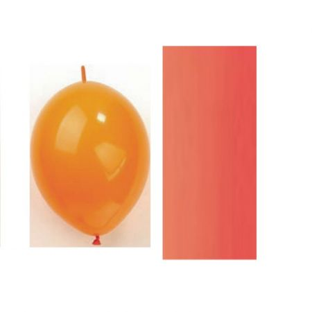 Connector inflatable red balloon, 30 cm, set of 10 pieces