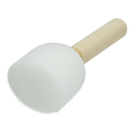 Set of 10 small foam tip brushes, diameter 4 cm, for stencil decoration