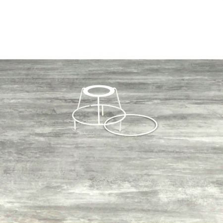 Small set of frames with legs, diam. 10cm for lampshade, Round rings epoxy white, for lamp holder 40mm E27