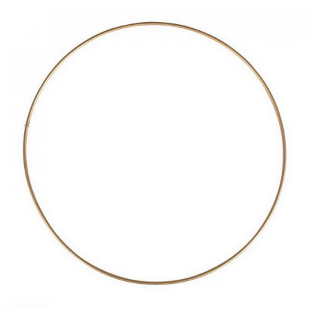Antique gold Metal Circle of 40 cm for Shades, Epoxy Wire ring for Dream Catcher