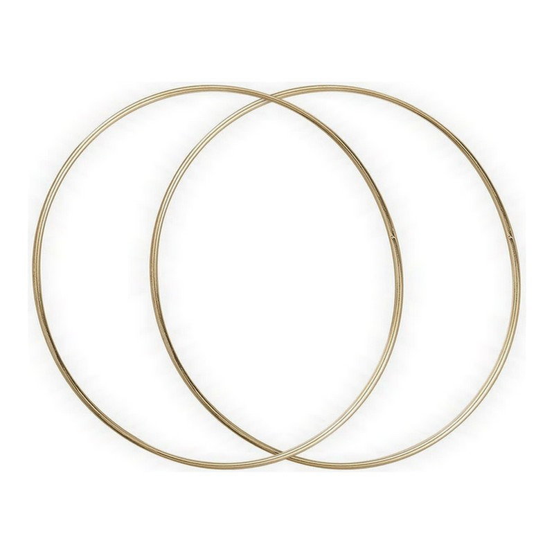 Set of 2 old gold circles, Diameter 30 cm for lampshade, epoxy rings for Dreamcatcher
