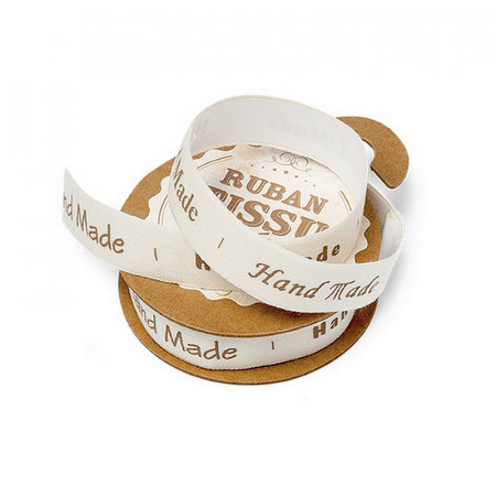 Adhesive fabric tape, handmade, 1.5 cm x 2m, different writings, for scrapbooking