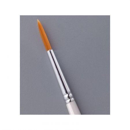 Round synthetic brush Size 0 / ø 2,4 x 7,3 mm,  for oil or acrylic paint