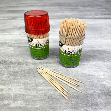Lot of 380 Toothpicks, wooden, long. 6.5 cm, diam 2 mm, aperitif sticks