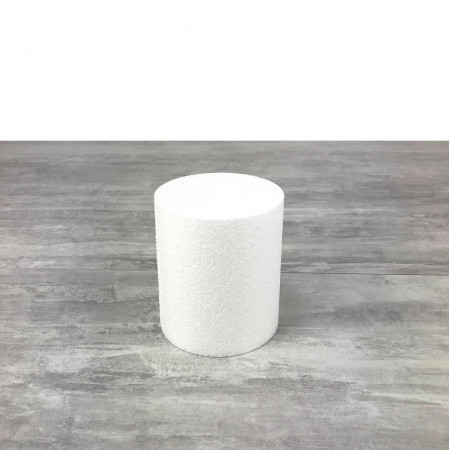 Small Polstyrene Disk, thickness 7 cm, diameter 5 cm, high density 28 kg / m3