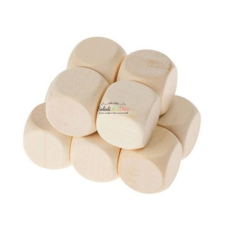 Set of 50 Beech wood cube, untreated, untinted, 40 mm, to be customized