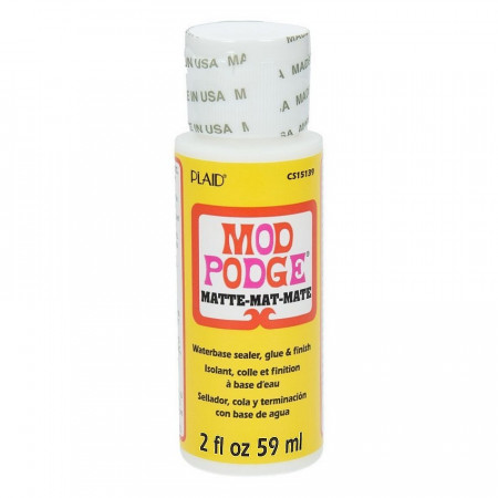 Mod Podge Glue, for towel gluing, Waterbase Sealer, glue and Matte Finisch, 59 ml bottle