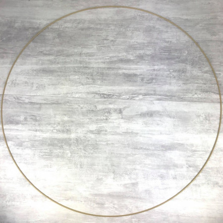 Large XXL antique gold Metal Circle of 100 cm for Shades, Epoxy Wire ring for Dream Catcher