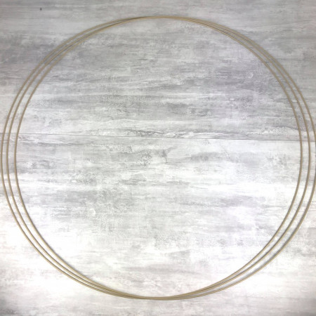 Big Set of 3 XXL large Antique gold metal circles Diameter 100 cm for lampshade, epoxy rings for Dreamcatcher
