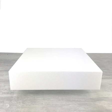Large square base 50x50 cm, Height. 10 cm, in white polystyrene of professional density