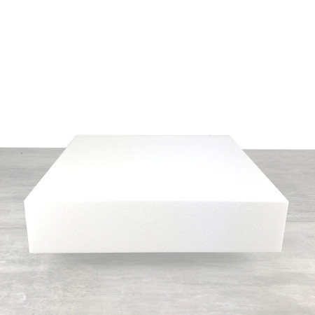 Square base 45x45 cm, Height. 10 cm, in white polystyrene of professional density