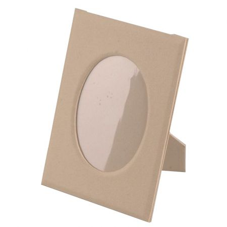Large Cardboard Photo Frame, 25.5 cm High, Oval insert 17.5 cm, to customize