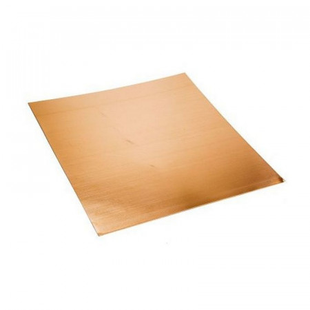 Copper plate, 150 x 150 x 0.8 mm, for enamelling, decoration, creation