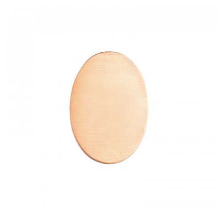 Set of 10 Oval copper plate, 26 x 16mm for enamelling