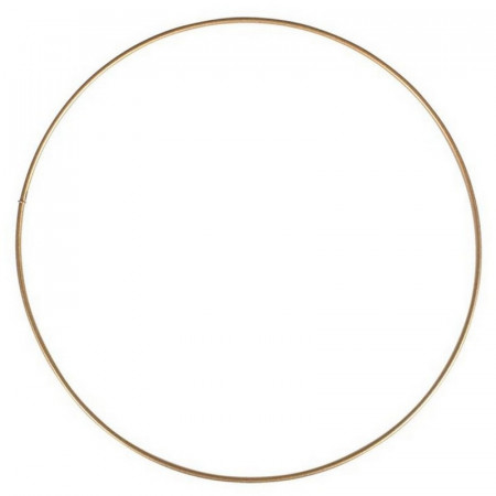 Large antique gold Metal Circle of 70 cm for Shades, Epoxy Wire ring for Dream Catcher