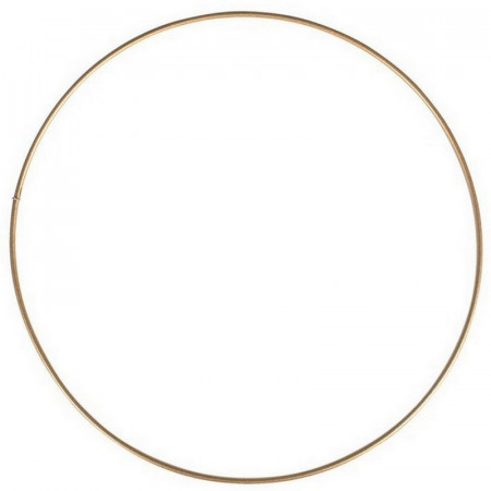 Large antique gold Metal Circle of 80 cm for Shades, Epoxy Wire ring for Dream Catcher