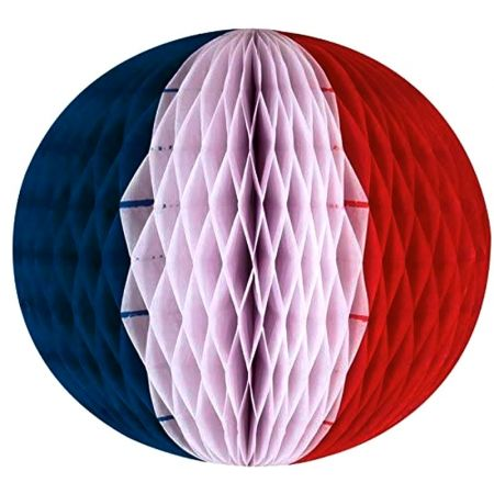Paper ball Color of France, Blue, White, Red, Paper Bee's Nest Diameter 28cm