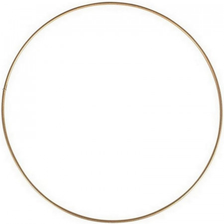 Large antique gold Metal Circle of 90 cm for Shades, Epoxy Wire ring for Dream Catcher