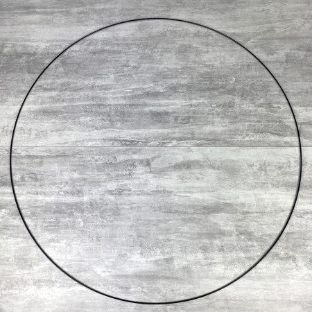 Large XXL black Metal Circle of 100 cm for Shades, Epoxy Wire ring for Dream Catcher