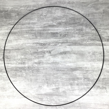 Large XXL black Metal Circle of 90 cm for Shades, Epoxy Wire ring for Dream Catcher