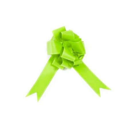 Lot of 2 Knots to pull, Apple green with dotted lines, diameter 20cm, for weddings and birthdays