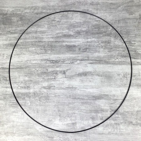 Large XXL black Metal Circle of 80 cm for Shades, Epoxy Wire ring for Dream Catcher