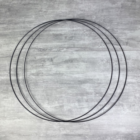 Big Set of 3 large black metal circles Diameter 70 cm for lampshade, epoxy rings for Dreamcatcher