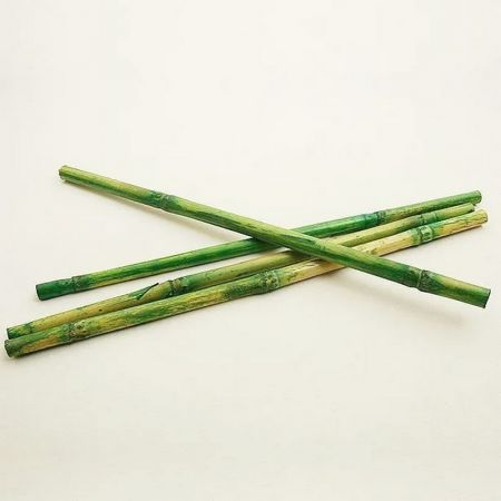 Set of 12 long decorative green bamboo stems, long. approx. 25 cm, diam. approx. 1cm