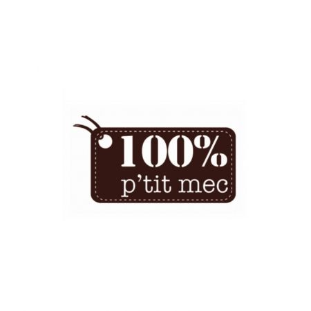 Wooden stamp, 100% P'tit mec, 8.5 x 6 cm, for scrapbooking or card making
