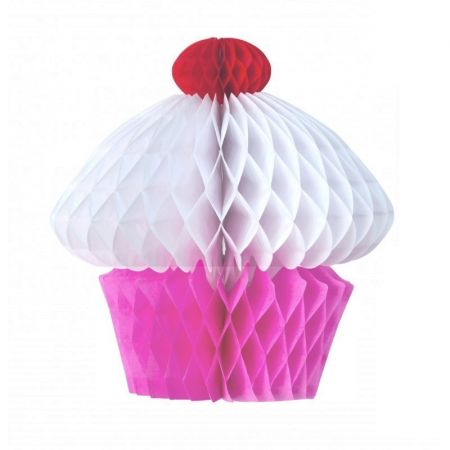 Cupcake Rose Honeycomb paper, 20 x 20 cm, gourmet and summer decoration