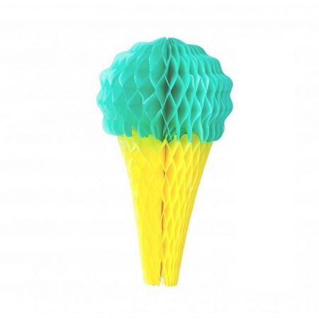 Honeycomb Green and Yellow Ice, h.20 cm, summer decoration for baby shower or birthday