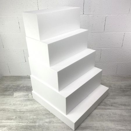 Large Square Staircase in Polystyrene, 5 Floors, Height 90 cm, Base 60 cm