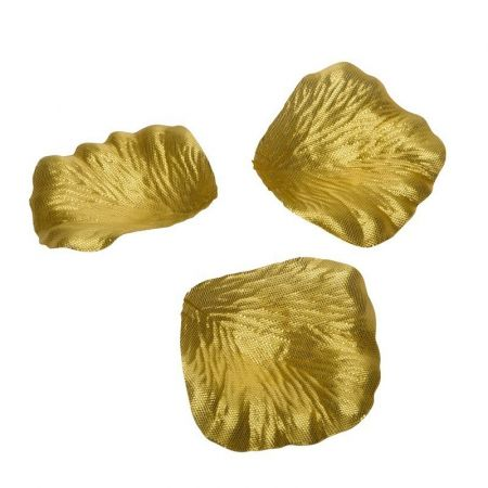 Lot of 100 Rose petals Gold metallic color, approx. 5 cm, in fabric, in sachet to sprinkle