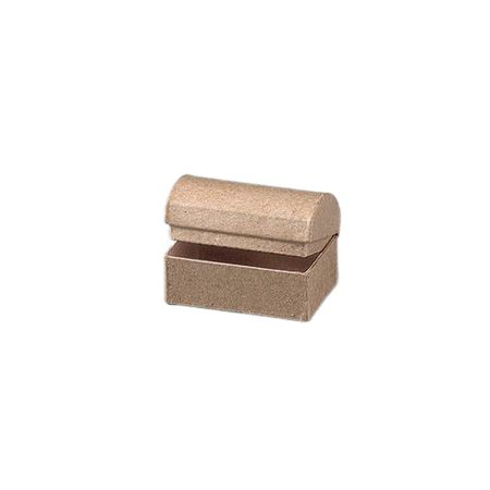 Small box Treasure chest with rounded lid, 6 x 4 x 4cm, in cardboard