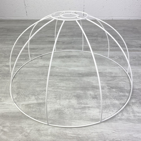 Suspension frame, 45 cm bell, lampshade 10 branches, in anticorrosion epoxy, for E27