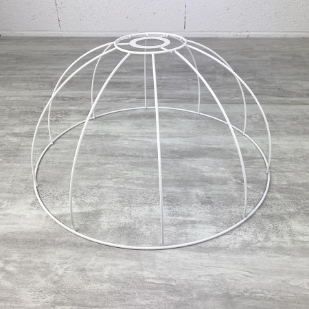 Suspension frame, 40 cm bell, lampshade 10 branches, in anticorrosion epoxy, for E27